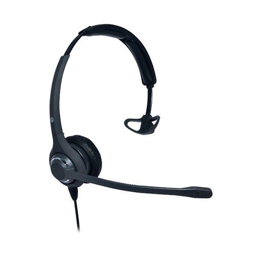 JPL 611PM Professional Monaural Adjustable Wideband Audio Headband Black JPL-611-PM