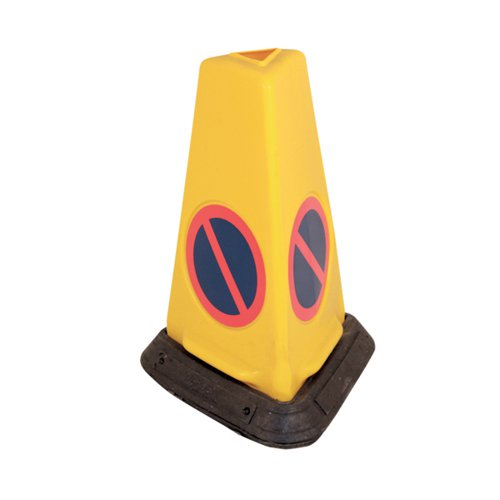 Yellow No Waiting Sand-Weighted Warning Cone JAD081-120-254