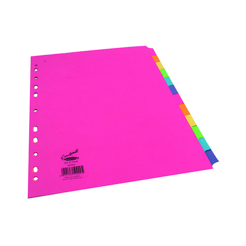Concord Divider 12-Part A4 160gsm Bright Assorted 50999