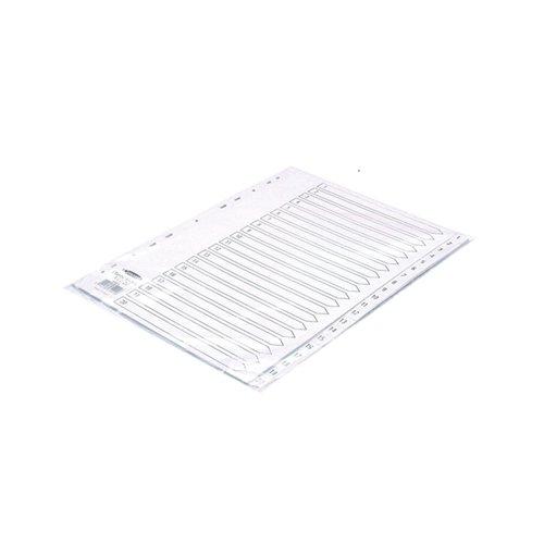 Concord Index 1-20 A4 Polypropylene White 64401