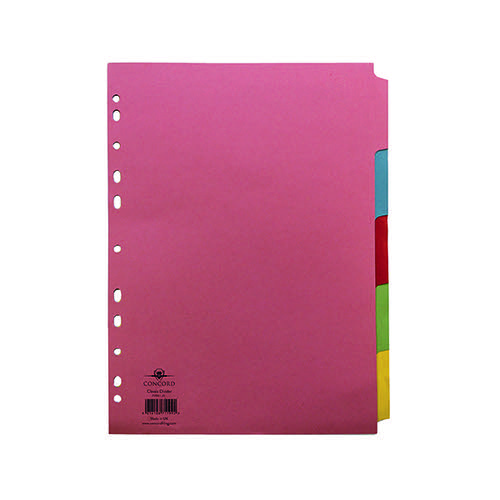 Concord Divider 5-Part A4 160gsm Multicoloured 71199/J11