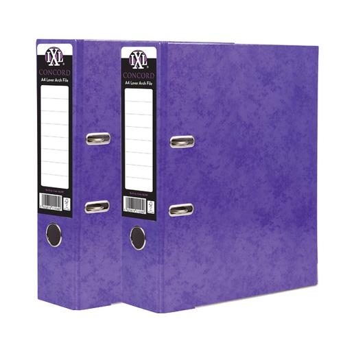 Concord IXL Lever Arch File A4 70mm Purple (Pack of 10) BOGOF JT816019