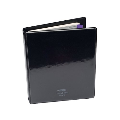 Concord Telephone/Address Book A5 Black 83010/CD6