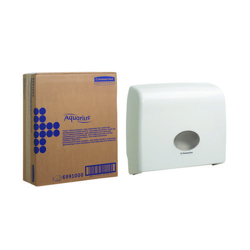 Aquarius Ripple Midi Jumbo Non-Stop Toilet Tissue Dispenser White 6991 Toilet Roll Dispensers KC01203