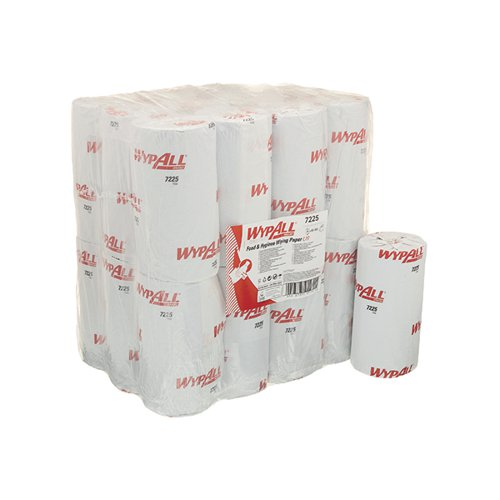 Wypall L10 Food and Hygiene Compact Roll (Pack of 24) 7225