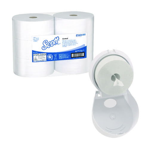 Scott Control Toilet Tissue 2Ply 314m White (Pack of 6) FOC Control Toilet Tissue Dispenser KC832089