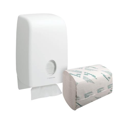 Scott Performance 1 Ply Hand Towels White (Pack of 3180) FOC Aquarius Dispenser KC832092