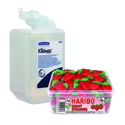 Kleenex Antibacterial Foam Hand Soap 1 Litre (Pack of 6) FOC Haribo