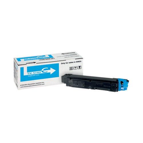Kyocera Cyan TK-5140C Toner Cassette (5 000 Page Capacity)