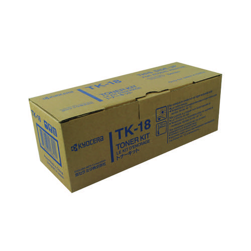 Kyocera TK-18 Black Toner Cartridge (7,200 Page Capacity)