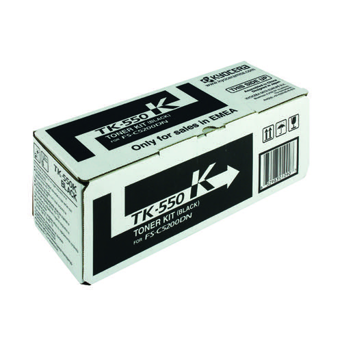 Kyocera TK-550K Black Toner Cartridge (Capacity: 7000 pages) 1T02HM0EU0
