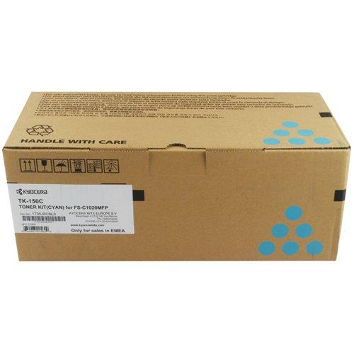 Kyocera Cyan TK-150C Toner Cartridge (6000 Page Capacity)