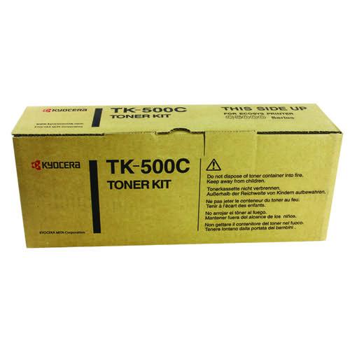 Kyocera Cyan TK-500C Toner Cartridge (8 000 Page Capacity)