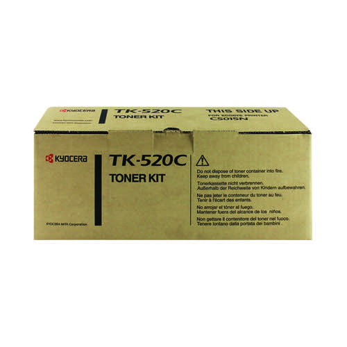 Kyocera Cyan TK-520C Toner Cartridge (4000 Page Capacity)