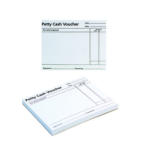 Q-Connect Petty Cash Voucher Pad 125x101mm (Pack of 10) KF00103