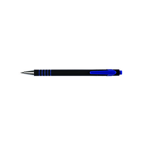 Q-Connect Lamda Ballpoint Pen Medium Blue (Pack of 12) KF00673 Ballpoint & Rollerball Pens KF00673