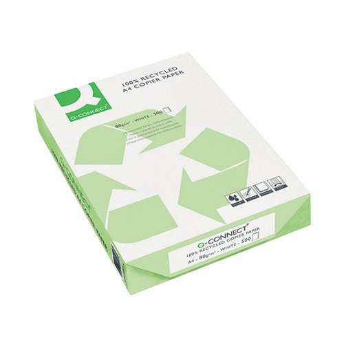 Q-Connect Recycled Copier A4 Plain Paper 80gsm White Box of 5 Reams