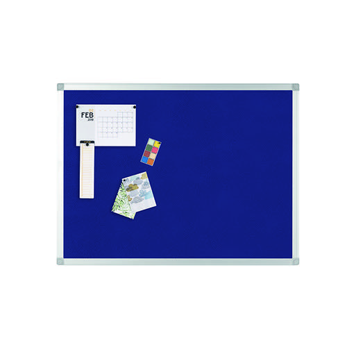 Q-Connect 900x600mm Aluminium Frame Blue Notice Board 9700028
