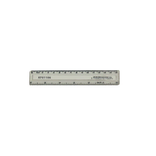 Q-Connect Acrylic Shatter Resistant Ruler 15cm Clear (Pack of 10) KF01106Q