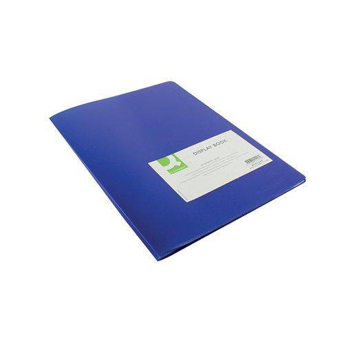 Q-Connect Polypropylene Display Book 10 Pocket Blue KF01247
