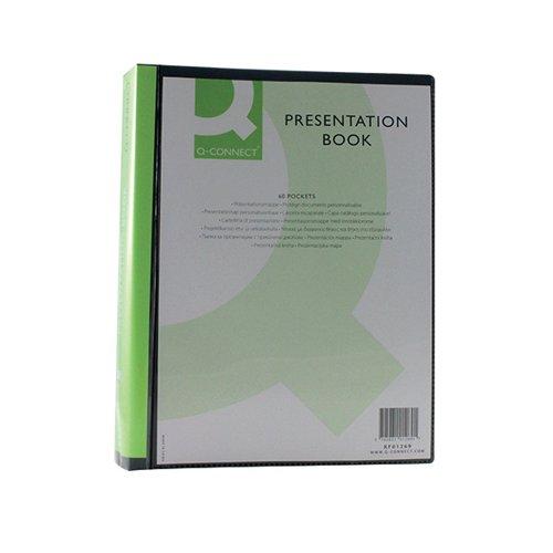 Q-Connect Presentation Display Book 60 Pocket A4 Black KF01269