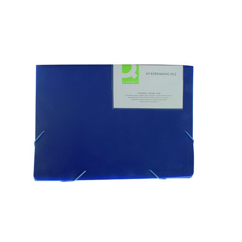 Q-Connect 13-Pocket Blue Expanding File KF01275