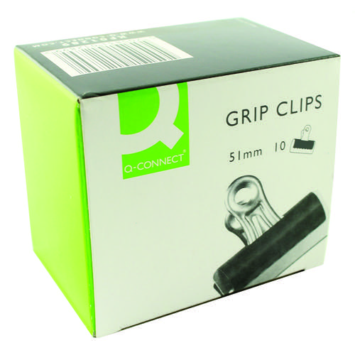 Q-Connect Grip Clip 51mm Black (Pack of 10) KF01289