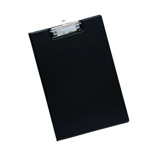 Q-Connect PVC Foldover Clipboard Foolscap Black KF01300