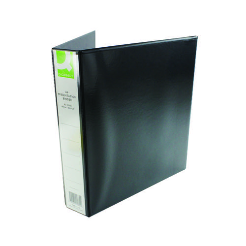 Q-Connect Presentation 40mm 4D Ring Binder A4 Black KF01332