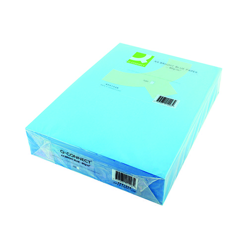 Q-Connect Bright Blue Coloured A4 Copier Paper 80gsm Ream (Pack of 500) KF01428