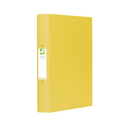 Q-Connect 2-Ring A4 Binder 25mm Polypropylene Yellow (Pack of 10) KF01472