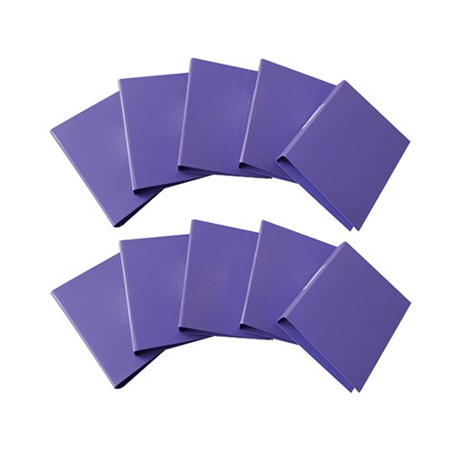 Q-Connect 2-Ring A4 Binder 25mm Polypropylene Purple (Pack of 10) KF01474
