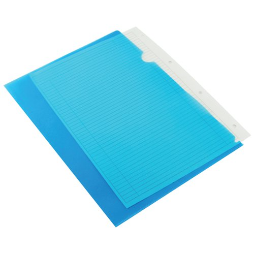 Q-Connect Cut Flush Folder A4 Blue (Pack of 100) KF01486