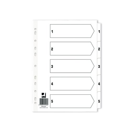 Q-Connect Index 1-5 Board Reinforced White (Pack of 50) KF01527Q