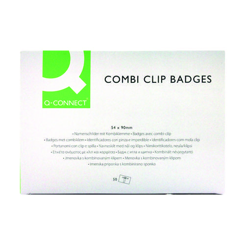 Q-Connect Combination Badge 54x90mm (Pack of 50) KF01567