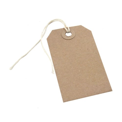 Strung Tag 146x73mm Buff (Pack of 1000) KF01613