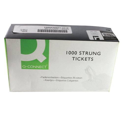 70x44mm White Strung Ticket (Pack of 1000) KF01622