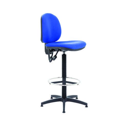 Arista Draughtsman Chair Fixed Footrest Blue KF017021