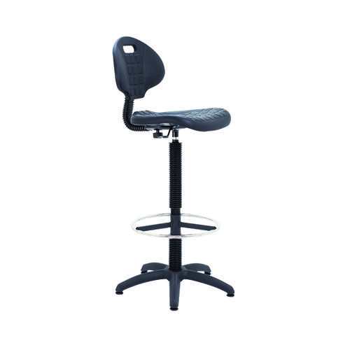Jemini Factory Chair with Arm Black