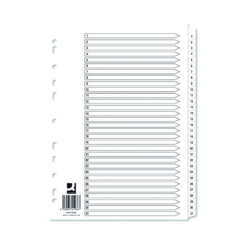 Q-Connect 1-31 White Board Indexes (Pack of 10) KF01936Q