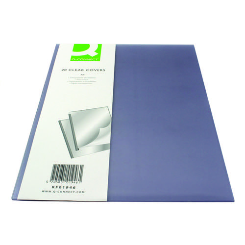 Q-Connect Clear A4 Clear Covers (Pack of 20) KF01946