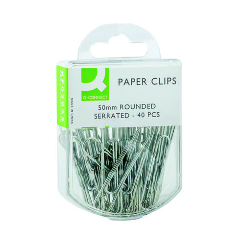 Q-Connect Paperclips Serrated 50mm (Pack of 400) KF02025Q