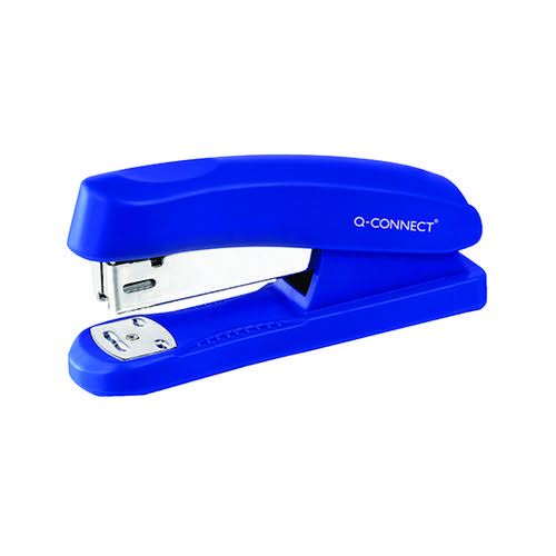 Q-Connect Half Strip Plastic Stapler Blue (Capacity: 20 sheets of 80 gsm paper) KF02151