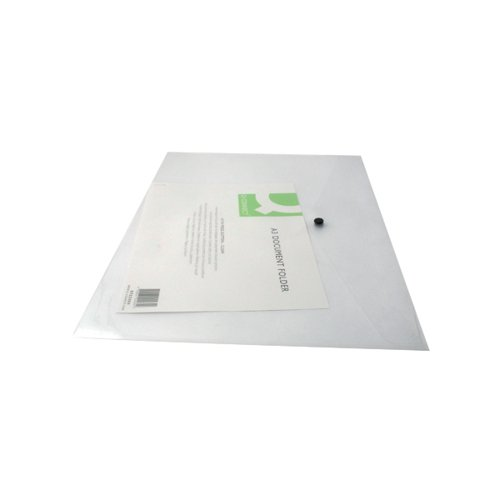 Q-Connect Polypropylene Document Folder A3 Clear (Pack of 12) KF02464