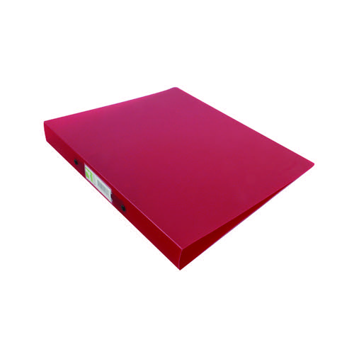 Q-Connect 2 Ring Binder Frosted A4 Red KF02482