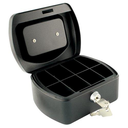 Metal Cash Box 6 inch Black