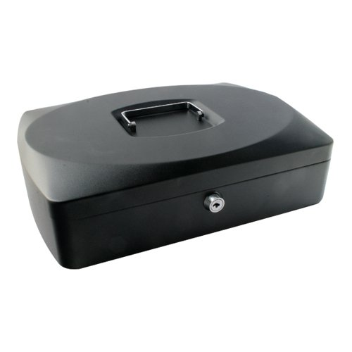 Q-Connect Cash Box 10 Inch Black KF02603