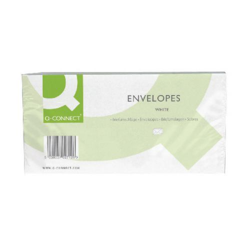 Q-Connect DL Window Envelopes 80gsm Self Seal White (Pack of 1000) KF02713