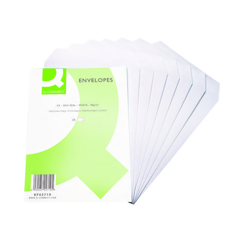 Q-Connect C5 Envelopes Pocket Self Seal 90gsm White (Pack of 500) KF02719