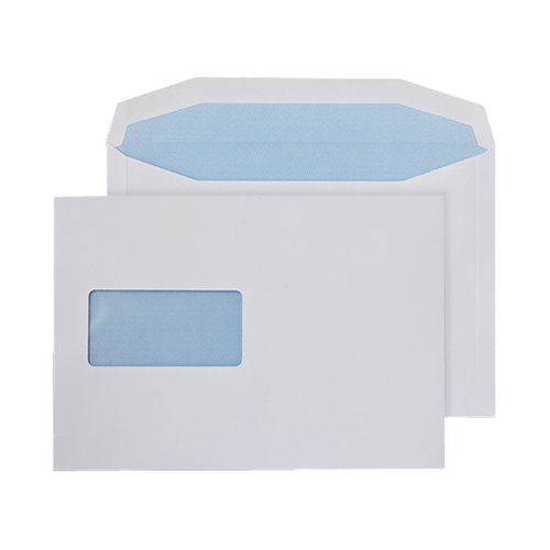 Q-Connect Machine Envelope 162x238mm Window Gummed 90gsm White (Pack of 500) KF02898